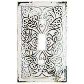 Distressed White Metal Single Switch Plate